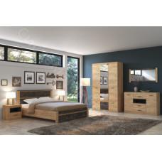 Модульная спальня Ральф -Дуб золотой крафт/Ателье темное. До 28 модулей