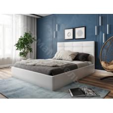 Кровать Соната - Белый кожзам.