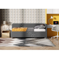 Кровать Капри - Рогожка (графит)