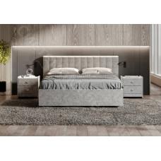 Кровать Сиена с подъемным механизмом - Микровелюр светло-серый