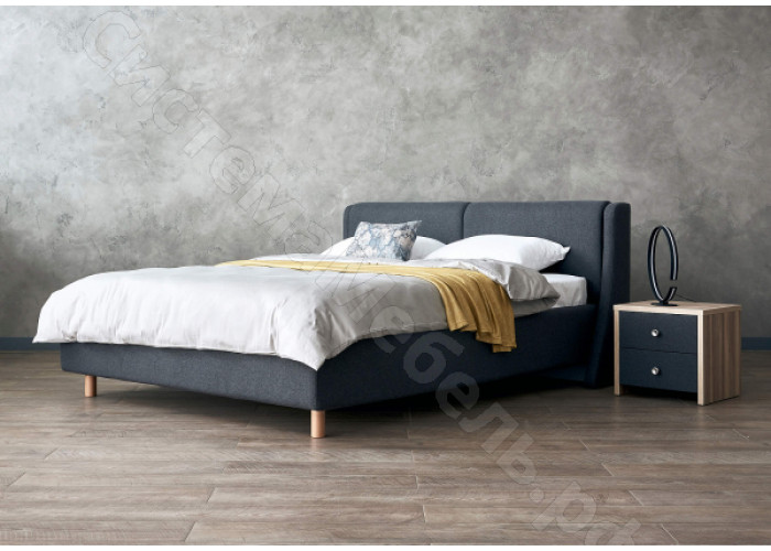 Кровать Барселона с подъемным механизмом - Рогожка графит