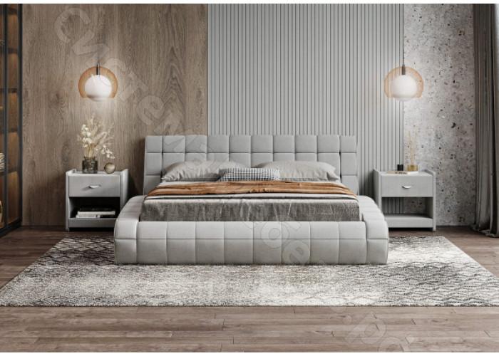 Кровать Милано с подъемным механизмом - Рогожка пепельный