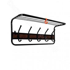 Вешалка с полкой 21В вставка кожа - Черный