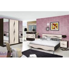 Спальня Гардония - Венге/Дуб молочный. 5 модулей. Набор N2