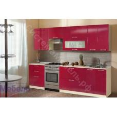 Кухня Шанталь 2 - Бежевый/Рубин металлик. До 32 модулей