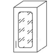 Шкаф навесной ВС400 со стеклом 1 дверь