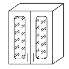 Шкаф навесной ВС600 со стеклом 2 двери