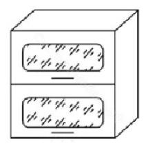 Шкаф навесной В800Г горизонтальный состеклом