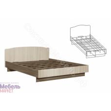 Спальня Светлана - Кровать на 1400 мм. Ясень Шимо темный/Ясень Шимо светлый