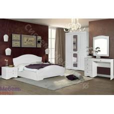 Спальня Шарлота - Белая/Скол дуба белый. 5 модулей