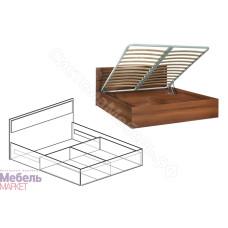 Спальня Линда - Кровать 1400 мм с подъемным механизмом. Орех Пегасо