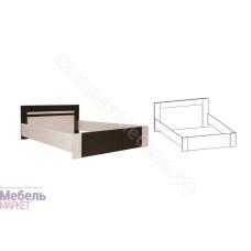 Спальня Софи - Кровать 1400 мм. Венге/Дуб молочный