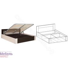 Спальня Софи - Кровать с подъемным механизмом 1400 мм. Венге/Дуб молочный