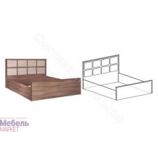 Спальня Берта - Кровать на 1400 мм. Ясень Шимо темный/Ясень Шимо светлый