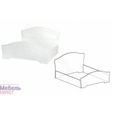 Спальня Шарлота - Кровать 1,6 м. Белый 701/Скол Дуба белый