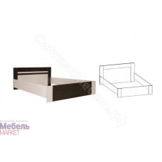 Спальня Софи - Кровать 1,8 м. Материал Венге/Дуб молочный
