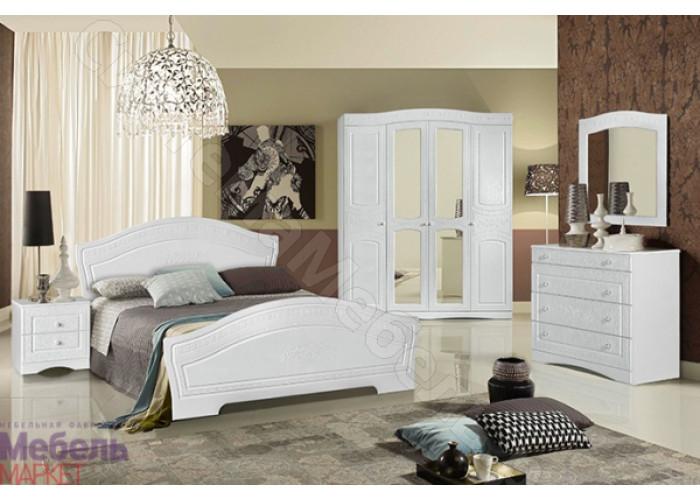Модульная спальня Шарлота - Белая/Скол дуба белый. До 12 модулей