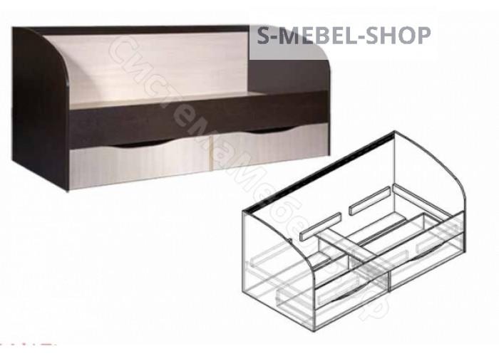 Детская Спайдер - Кровать с ящиками. Венге/Дуб молочный