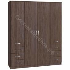Шкаф 4-х дверный 6 ящиков - Сантана Сокат
