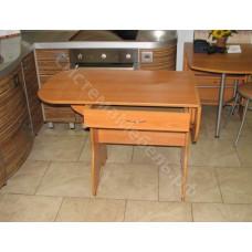 Обеденный раскладной кухонный стол, уши-ящик (6 цветов)