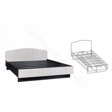 Спальня Светлана - Кровать на 1400 мм. Венге/Дуб Молочный