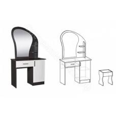 Стол макияжный с банкеткой и ящиком - Венге/Дуб молочный