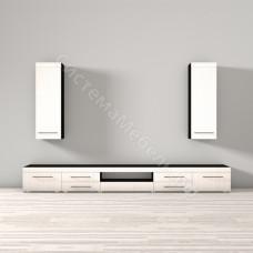 Гостиная модульная Фелиция - Венге/Белый глянец дым. До 3 модулей