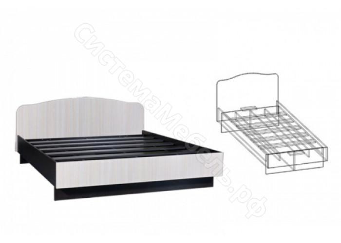 Спальня Светлана - Кровать на 800 мм прямая спинка. Венге/Дуб Молочный