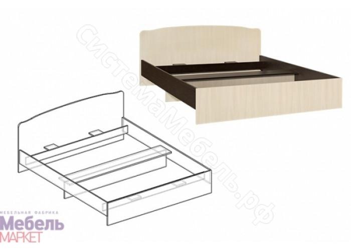 Спальня Светлана - Кровать с фигурной спинкой на 1200 мм. Венге/Дуб Молочный