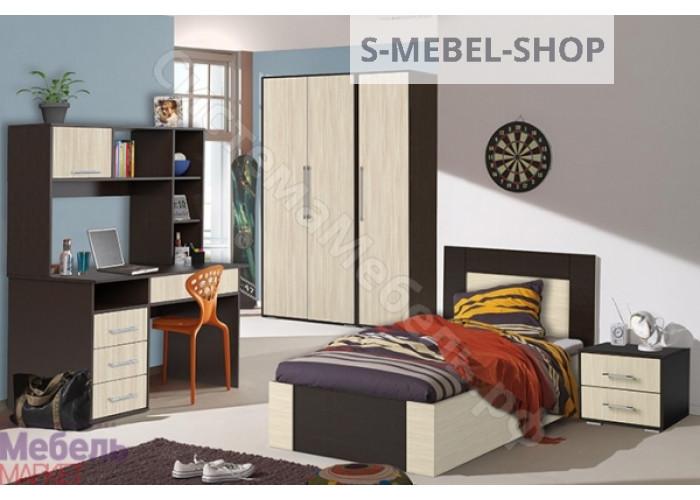 Модульная спальня Берта - Венге/Ясень Шимо светлый. До 26 модулей