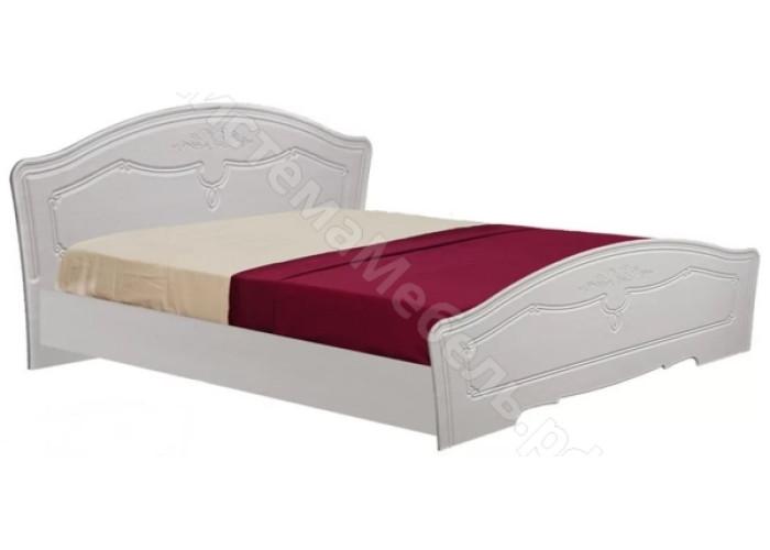 Спальня модульная Ева - Кровать с основанием 1,6. Рельеф Пастель