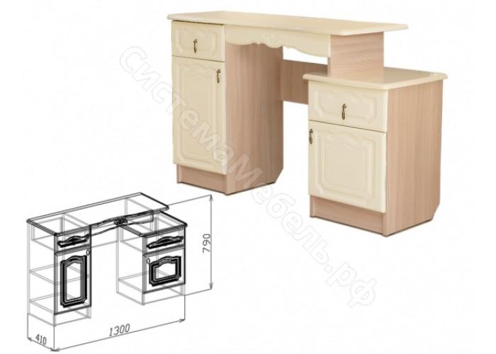 Модульная спальня Корона - Туалетный стол. Жемчуг глянец