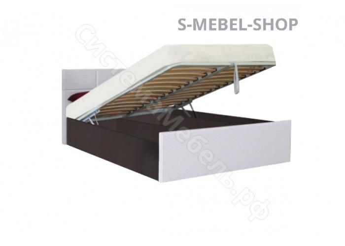 Спальня модульная Палермо - Кровать 1,4 с подъемным механизмом. Белый дым