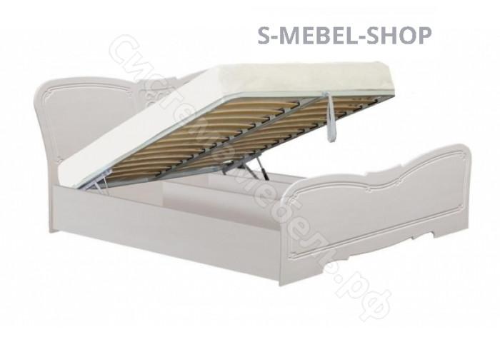 Спальня модульная Тиффани - Кровать с основанием, 1,6 с подъемным механизмом. Рельеф Пастель