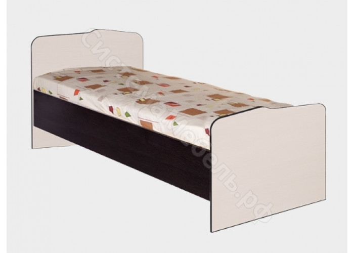 Детская Статус - Кровать N22. Венге/Вудлайн