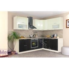 Кухня Шанталь 3 - Жемчуг глянец/Шелк Венге. 9 модулей