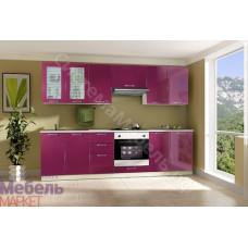Кухня Шанталь 2 - Малиновый металлик/Бежевый. До 31 модуля