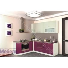 Кухня Шанталь 2 - Бежевый/Малиновый металлик. 9 модулей