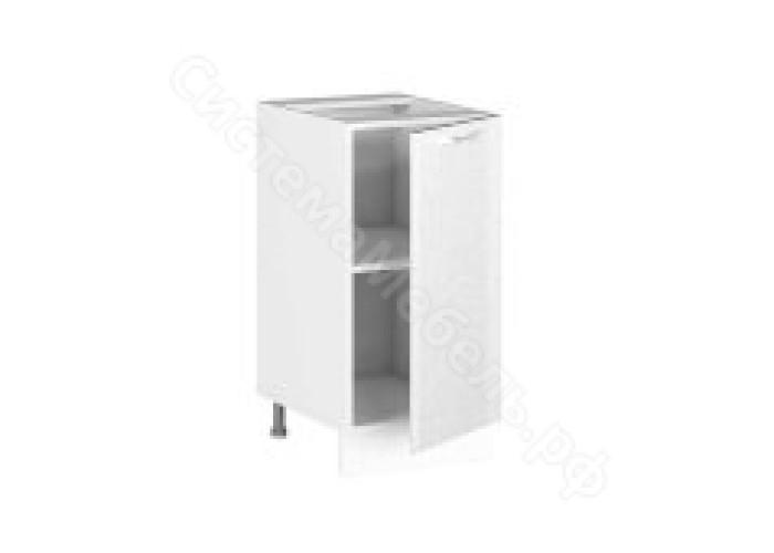 Рабочий стол РС-40 Шанталь-2 Белый/Белый металлик глянец