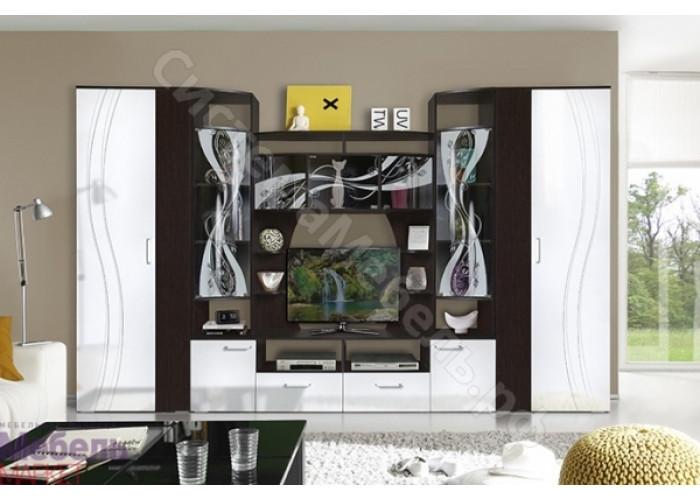 Гостиная Адриана - Венге/Белый глянец. 3 модуля
