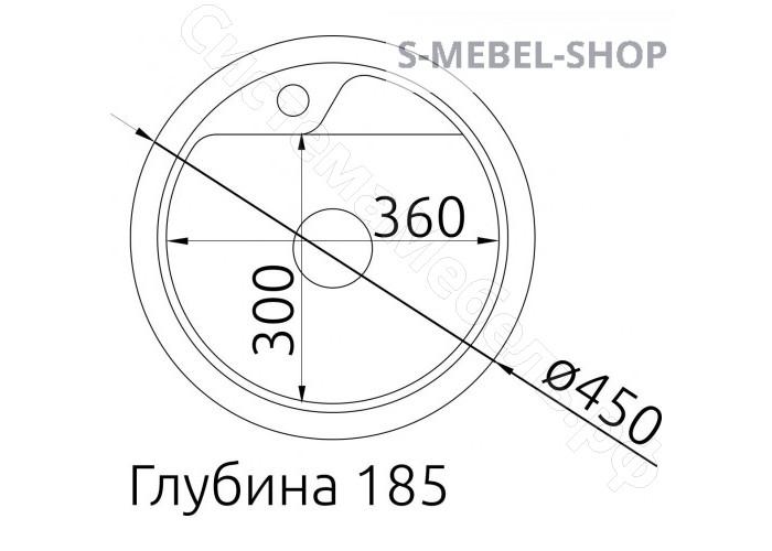 Мойка Керамическая Фосто КМД 45 К