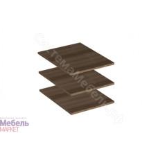 Модульная Спальня Берта - Комплект полок для пенала. Ясень Шимо темный