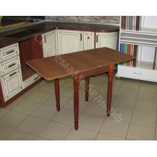 Стол обеденный Ломберный (поворотно-раскладной) без ящика. Коричневый