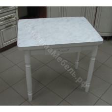 Ломберный стол (поворотно-раскладной) с ящиком. Пластик. Белый мрамор