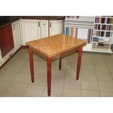 Ломберный стол (поворотно-раскладной) с ящиком. Пластик.№5397 Орех