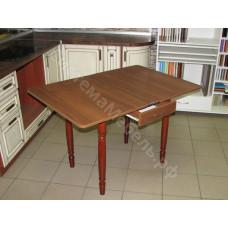 Кухонный стол Ломберный (поворотно-раскладной) с ящиком. Орех
