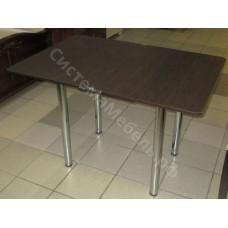 Кухонный стол Ломберный (поворотно-раскладной) с ящиком. Венге. Ножки хром