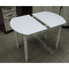 Кухонный  ЕВРО раскладной ЛДСП белый  ножки дерево белые.