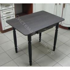 Стол прямоугольный с ящиком нераскладной. ЛДСП - Венге