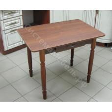 Стол прямоугольный с ящиком нераскладной. ЛДСП - Орех